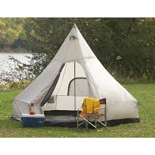 Tent Cabin by Guide Gear Single Pole Wigwam Tent 151368 Cabin Tents At