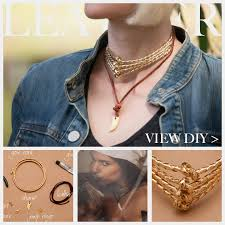 leather gold necklace images Gold cord leather necklace diy jpg