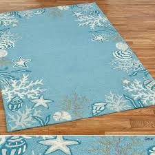 Rugs With Teal Briny Blue Ocean Themed Area Rugs