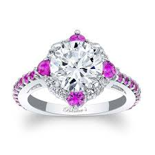 sapphire halo engagement rings barkev s pink sapphire halo engagement ring 7967lps