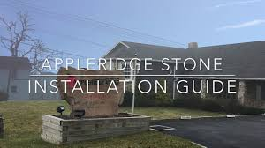 how to install appleridge stone veneer youtube
