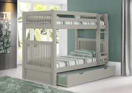 Bunk Bed Headboard Bunk Bed With Trundle Mission Headboard Grey
