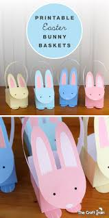 printable easter bunny baskets the craft train