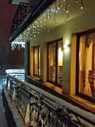 lovely external lights enhanced by the snow picture of willa