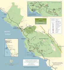 California State Map by Salt Point State Park Sonoma Hiking Trails