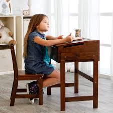 Kids Wood Desks by Schoolhouse Desk And Chair Set Walnut Hayneedle