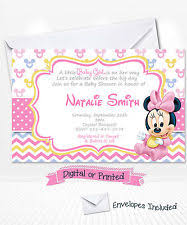 minnie mouse baby shower invitations minnie mouse baby shower invitations ebay