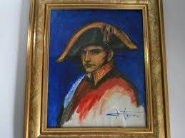 v ursinis oil painting of napoleon behind glass in nice frame
