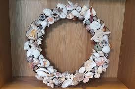 seashell wreath shell wreath sea treasure by patrice