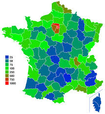 Map Of France With Cities by List Of French Departments By Population Wikipedia