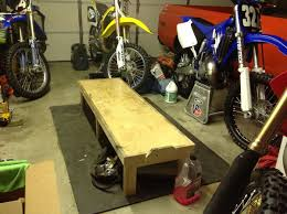 motocross bike stand homemade work station tech help race shop motocross forums