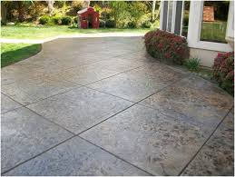 Backyard Concrete Patio Backyards Wonderful Price For Stamped Concrete Patio Marvelous