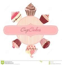 Cherry Cupcake Invitation Card Royalty Cakes Logo Vector Royalty Free Stock Photo Image 32446415