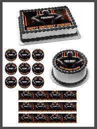 call of duty birthday cake call of duty ops 3 edible cake cupcake toppers edible prints