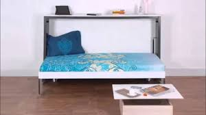 horizontal single wall bed by prab space saving concepts youtube