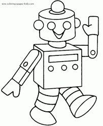 robot coloring pages getcoloringpages for robot coloring pages to