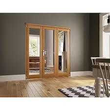Wickes Bi Fold Doors Exterior Wickes Newbury Fold Flat 3 Door Set Oak Veneer 2007 X