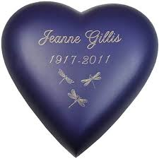 heart urn memorial keepsake hearts