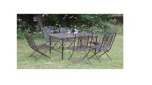 metal outdoor table and chairs garden table and chairs ebay