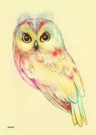 40 nice watercolor owl tattoos