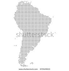 south america dot map bitmap pixel map spain vector illustration stock vector 632004509