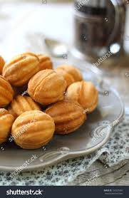 cookies nuts condensed milk traditional russian stock photo