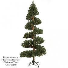 spiral christmas tree 7 foot spiral spruce christmas tree unlit c 60240
