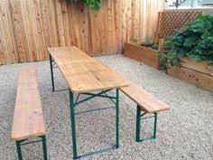 german beer garden table and bench vintage biergarten table things to remember pinterest vintage
