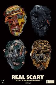 the world wildlife fund made these creepy halloween masks of