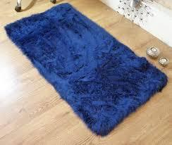 sheepskin bath mat royal blue bath rugs roselawnlutheran