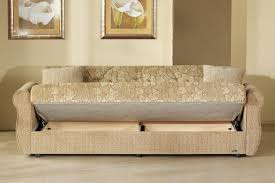 two tone fabric living room w storage sleeper sofa