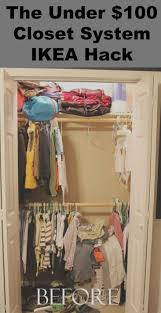 organize your closets with this under 100 00 closet system ikea