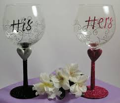his hers wine glasses the gift basket connection