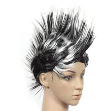 halloween costume wigs amazon com halloween costume party wigs mohawk hair punk dress up