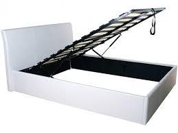 gfw denver 5ft kingsize white faux leather ottoman lift bed frame