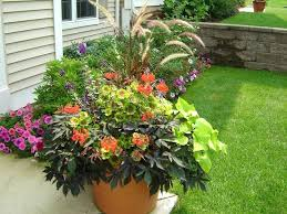 Planter Gardening Ideas Big Planter Pots Designs Large Wood Garden Planters For Trees