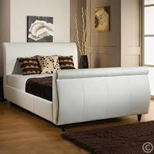 Leather Sleigh Bed with Leather Sleigh Bed With Drawers Leather Sleigh Bed Look Very