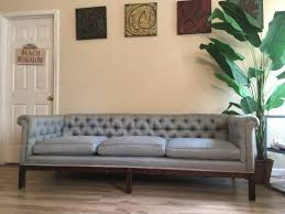 Tufted Vintage Sofa Vintage Chesterfield Tufted Sofa Rolled Arms Beautiful Sky Blue