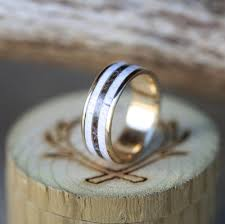 antler wedding ring single channel 10k yellow gold camo and elk antler wedding band