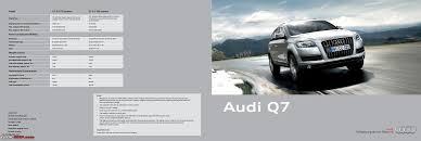 audi q5 brochure audi launches q5 2 0 tdi a6 3 0 tdi quattro discontinued team bhp