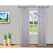 Gray Chevron Curtains Gouchee Design Chevron Curtain Set Of 2 Grey White Curtains