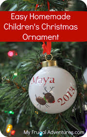 diy children u0027s christmas ornament my frugal adventures