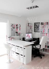 It Office Design Ideas by Things I Heart Home Offices Pink Black And Gray