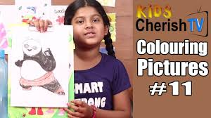 colour kung fu panda colouring pictures 11 kids