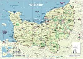 Normandy Invasion Map Dday