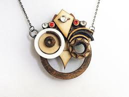 steampunk owl necklace images Steam punk wood king hoot jpg