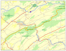 State Of Pennsylvania Map by Mid State Trail Association Of Pennsylvania