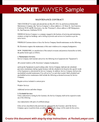 computer service maintenance agreement sample best resumes
