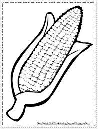 corn coloring pages printable thanksgiving pinterest craft