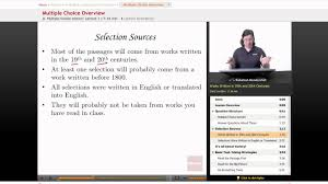 ap english language u0026 composition multiple choice overview youtube